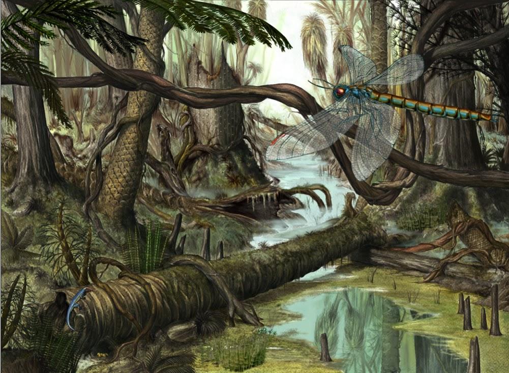 Una scena di 300 milioni di anni fa (Davide Bonadonna, 2012)