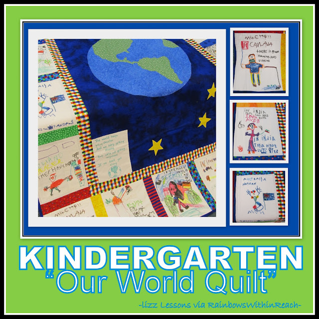 "photo of: Kindergarten ""Our World"" Quilt: Geography Meets Quilting via RainbowsWithinReach Quilt RoundUP"