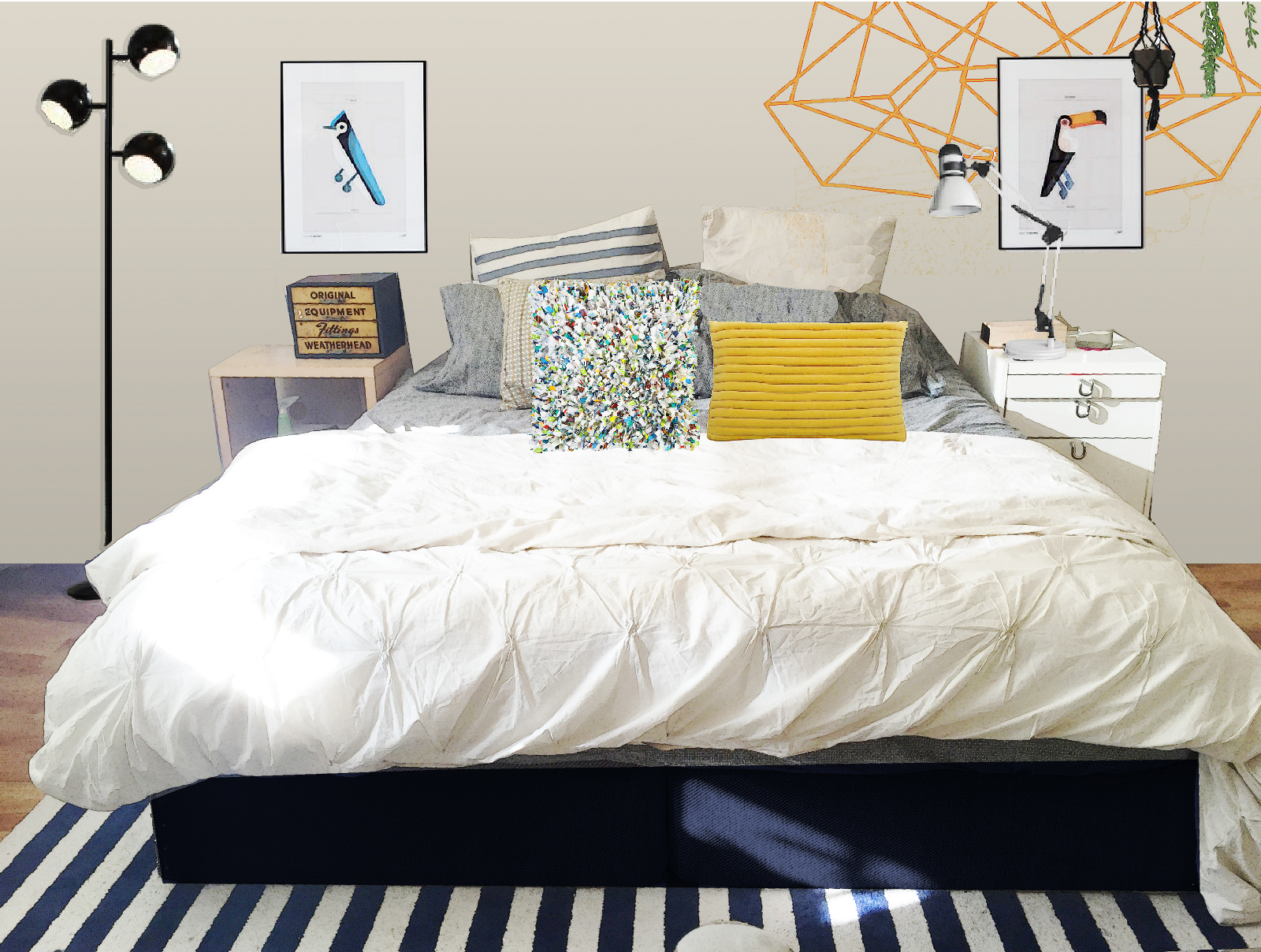 How To Decorate A Bedroom Without Headboard News Headboard ...