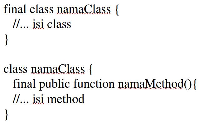 final class dan final method