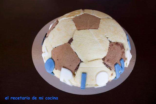 tarta balón de futbol