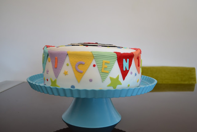 Tarta Mickey Mouse Fondant cumpleaños guirnalda