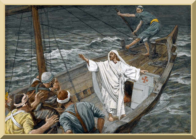 """Jesus Stilling the Tempest"" -- by James Tissot"