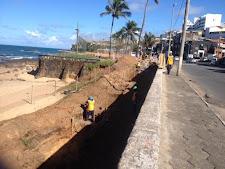Obras de acesso à Praia de Sant`Anna em andamento