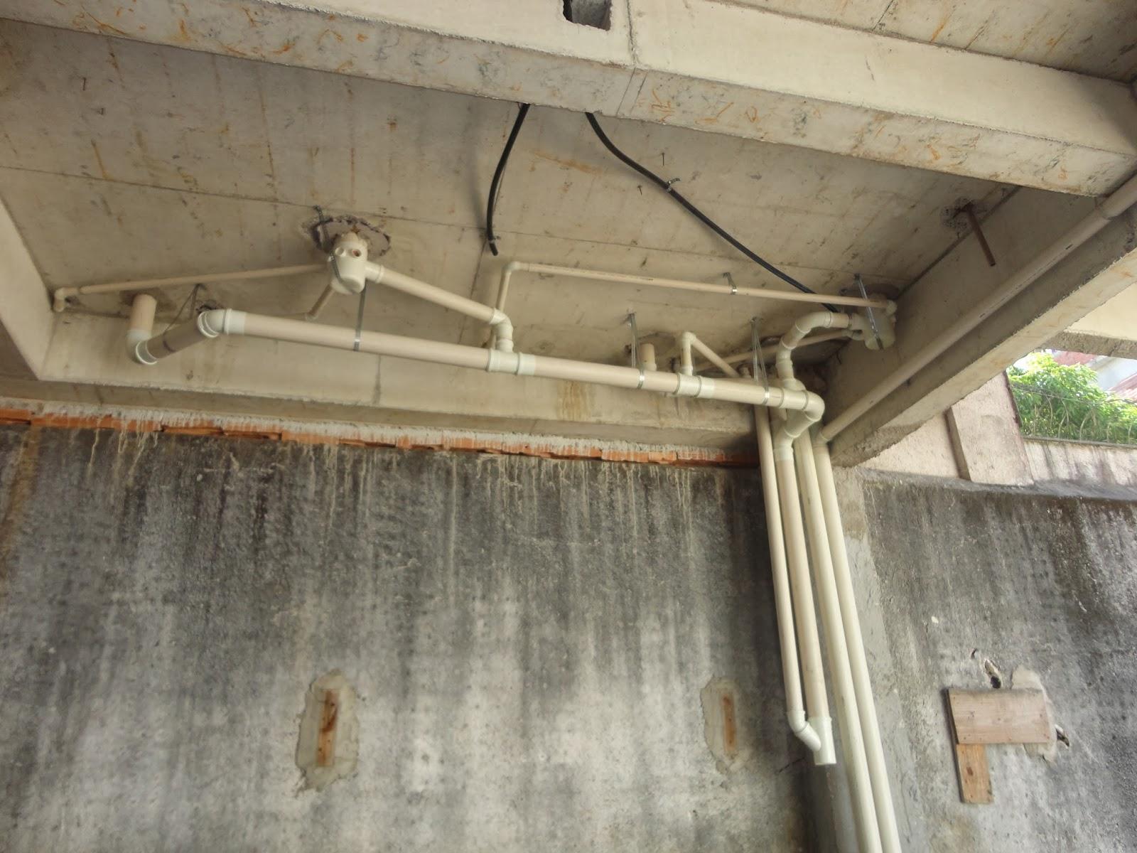 Fechamento instalação de esgoto e sanitário teto do térreo do BL  #90623B 1600 1200