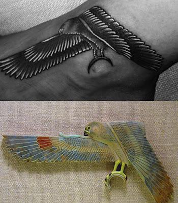 il falco egizio che rappresenta il dio solare Horus  una figura    Eye Of Horus Triangle Tattoo