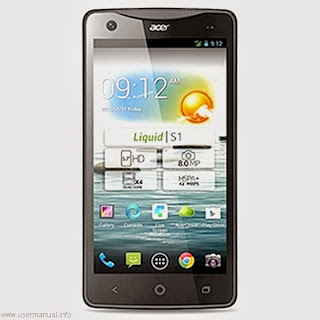 Acer Liquid S1 user guide manual