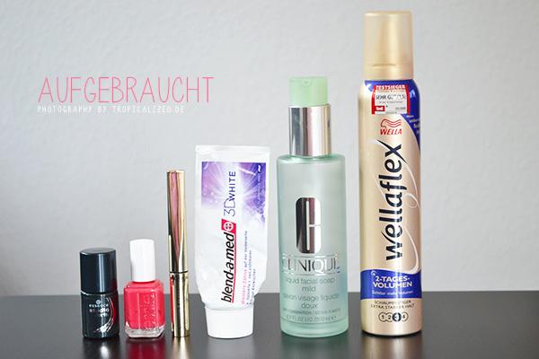 Aufgebrauchte Kosmetik Make-up Mai 2013