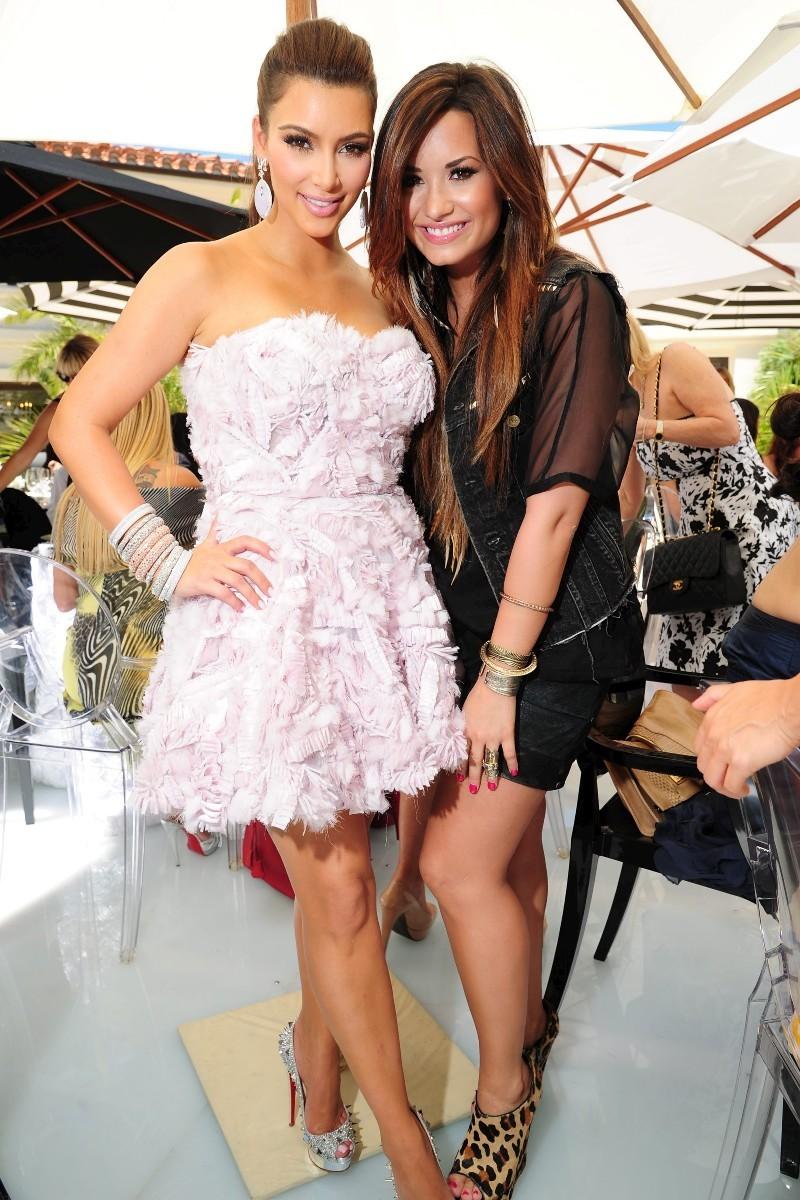 kim kardashian in her bridal shower party