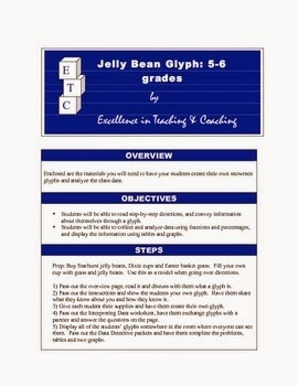 https://www.teacherspayteachers.com/Product/Jellybean-Glyph-Data-Analysis-with-Fractions-and-Graphs-226362