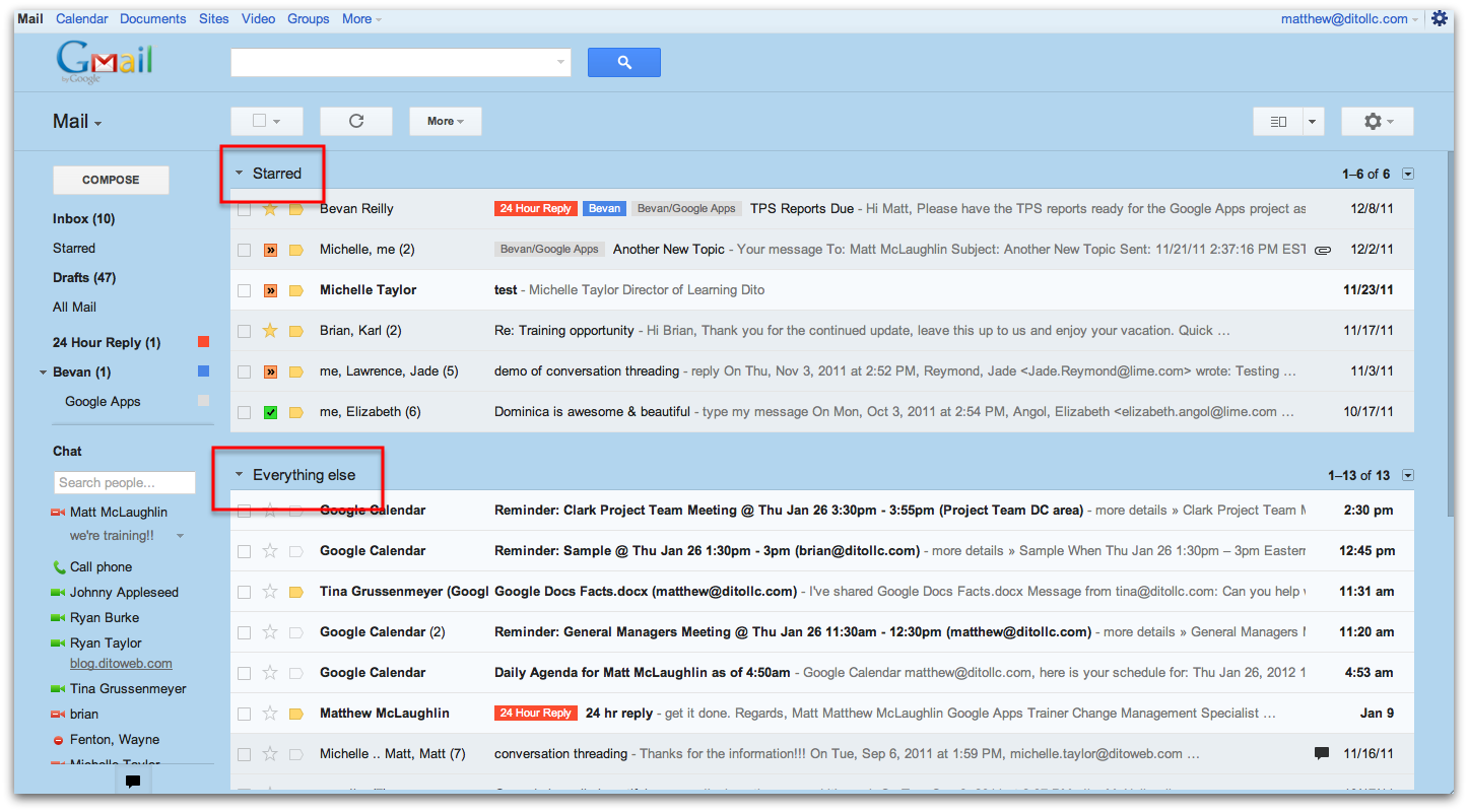 Five Different Inbox Views Available In Gmail Google Cloud Premier