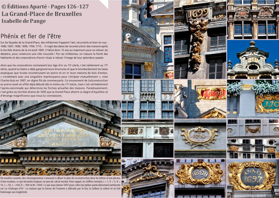 La Grand-Place de Bruxelles - Isabelle de Pange (éditions Aparté) - Bruxelles-Bruxellons