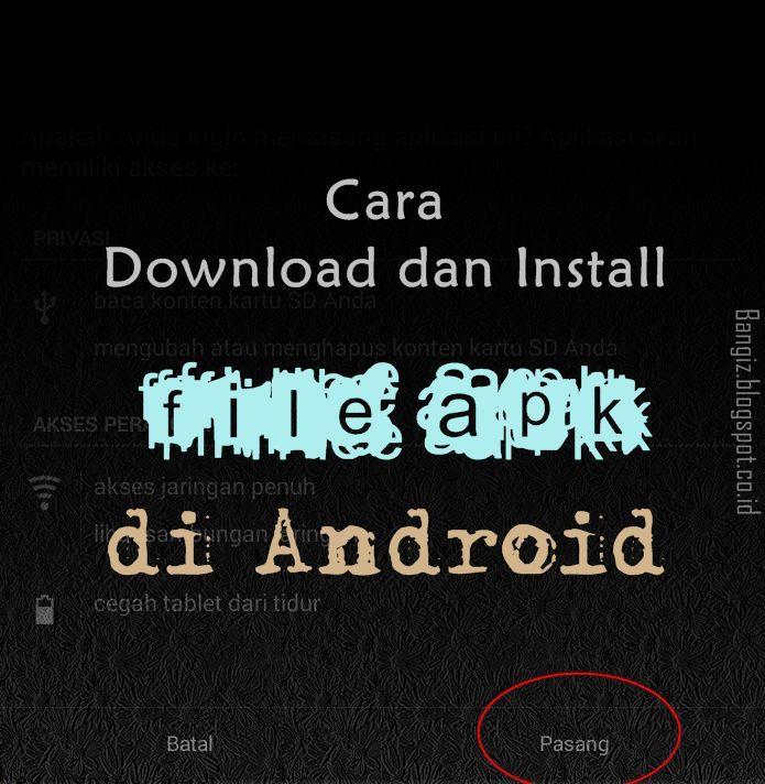 Cara install di android