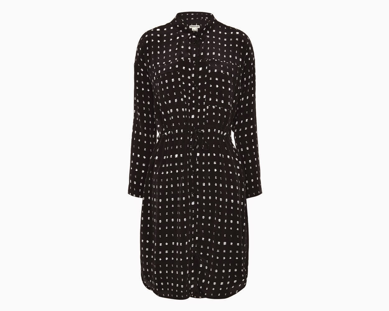 whistles black white spot dress