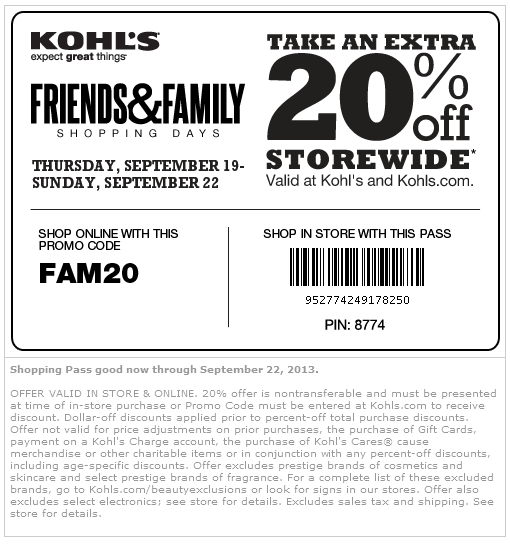 Kohls coupons discounts