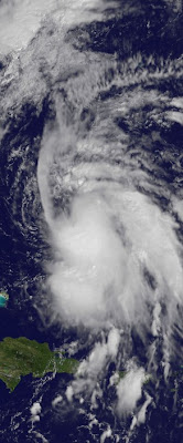 Tropischer Sturm MARIA endlich in Bewegung - Sturmwarnung auf Bermuda, Maria, Sturmwarnung, US-Ostküste Eastcoast, Puerto Rico, Dominikanische Republik, Bermudas, Atlantik, 2011, Hurrikansaison 2011, September,