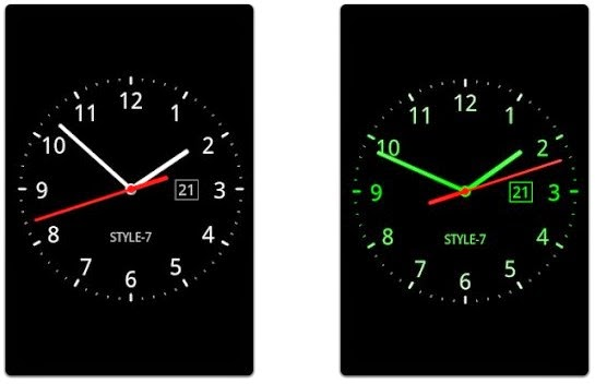 Androidsme Analog Clock Live Wallpaper 7