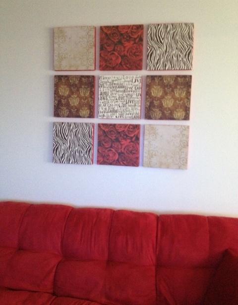Paper Wall Panels : Thursday night threads diy wall art panels scrapbook