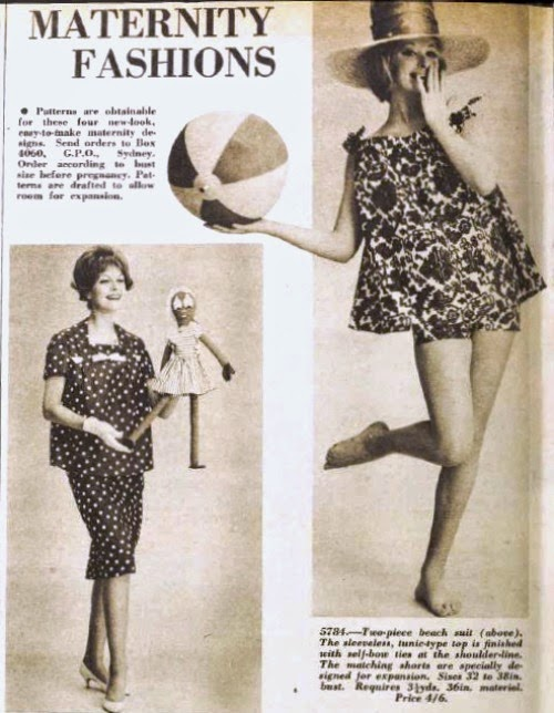 1960 maternity beach suit aww