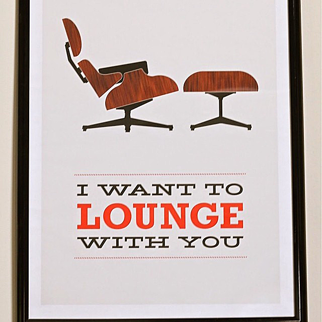 "#thriftscorethursday Week 25 | Instagram user: thethriftress shows off this Vintage ""I want to lounge with you"" print"
