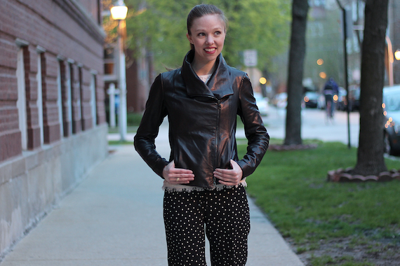 Leather, Lace, & Polka Dots | StyleSidebar