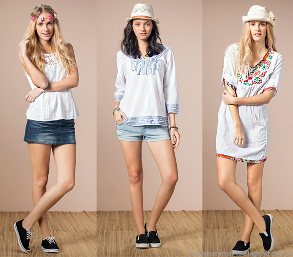 Núcleo Moda primavera verano 2015 túnicas, musculosas y blusas de moda 2015.