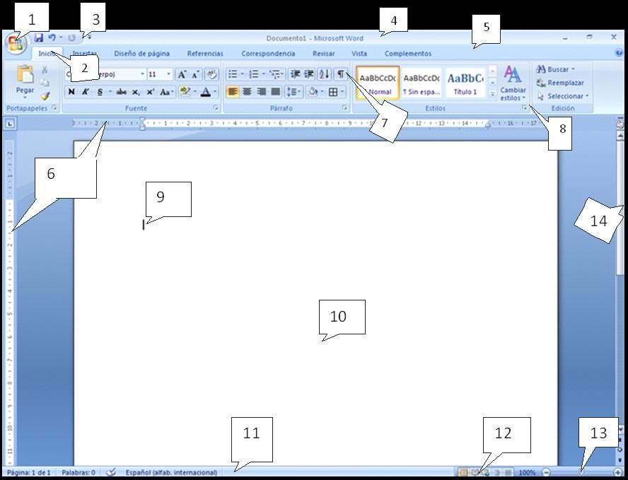 Partes De La Ventana Microsoft Word Office 2016