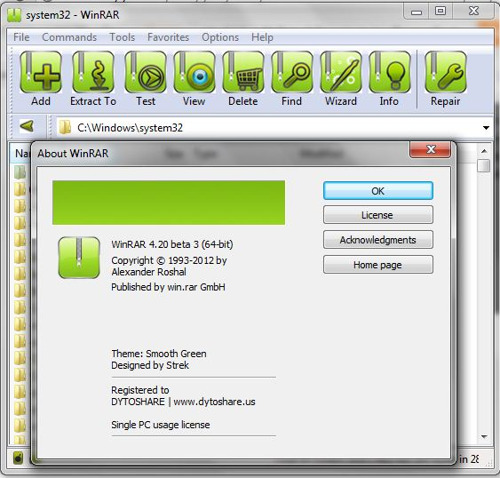 WinRAR 4.20 Beta 3 Preactivated + ThemesPack
