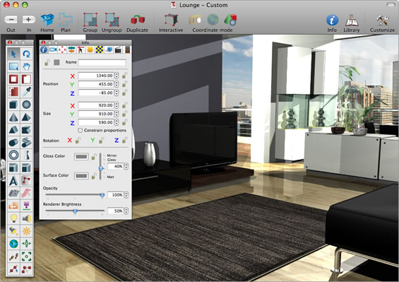 Web graphics design 3d graphics design software for Best free interior design software
