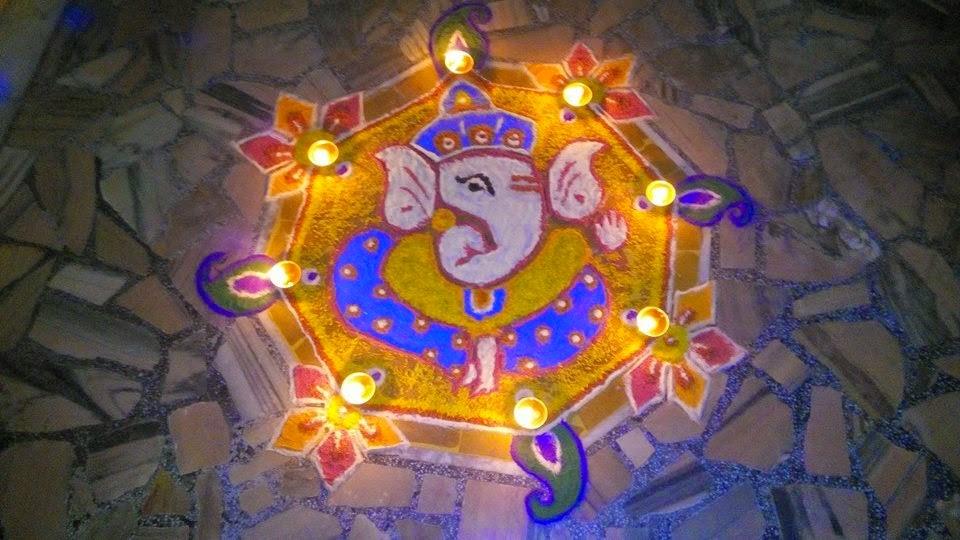 Ganesha Rangoli 7
