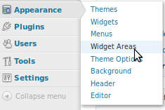 WooSidebars widget areas in Wordpress