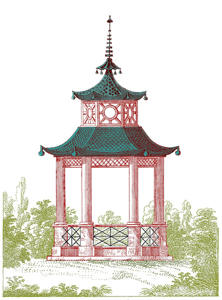 Garden Pagoda Clip Art