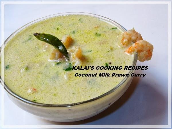 Tasty White Coconut Milk Prawn Curry | Thengai Paal Eral Kuzhambu