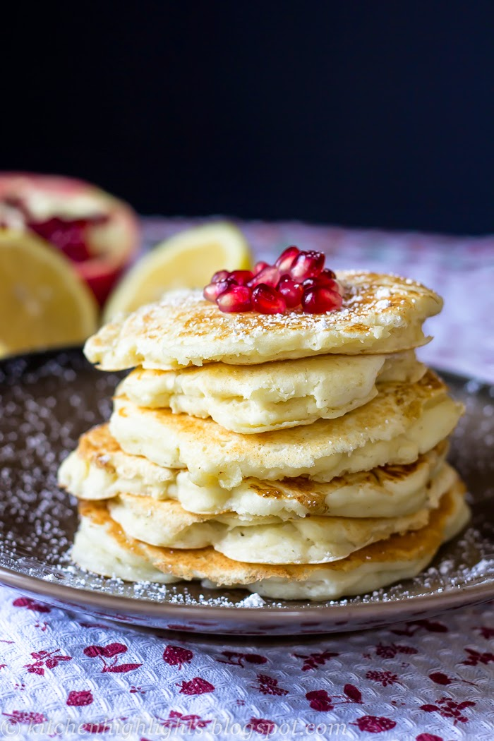 Lemon ricotta pancakes are an elegant alternative to your usual weekend breakfast