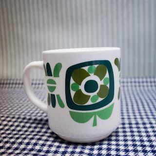 Mug Mobil/Arcopal - Vert / Cadeau pub vintage 70