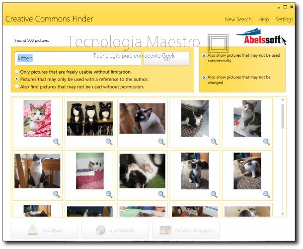 Buscador de  imágenes libres, CCFinder