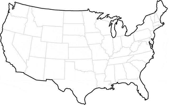 USA Maps Outline