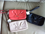 COACH LARGE LEATHER FLAP WRISTLET