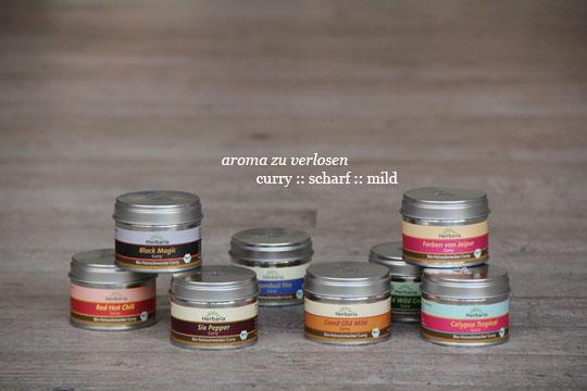 Herbaria Bio-Feinschmecker Gewürze: Set Curry scharf und Set Curry mild