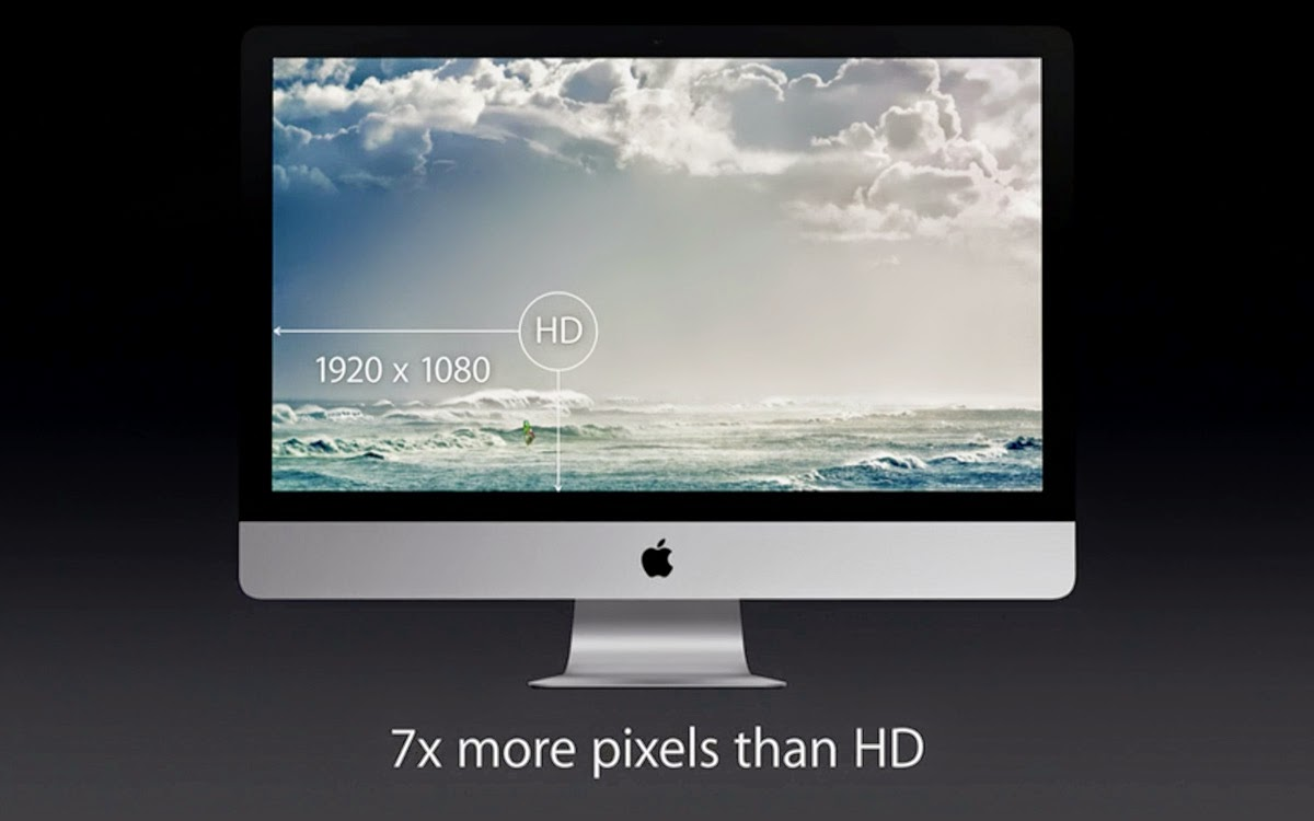 """I nuovi iMac 27"""" con Retina display, anche detto 5K."""