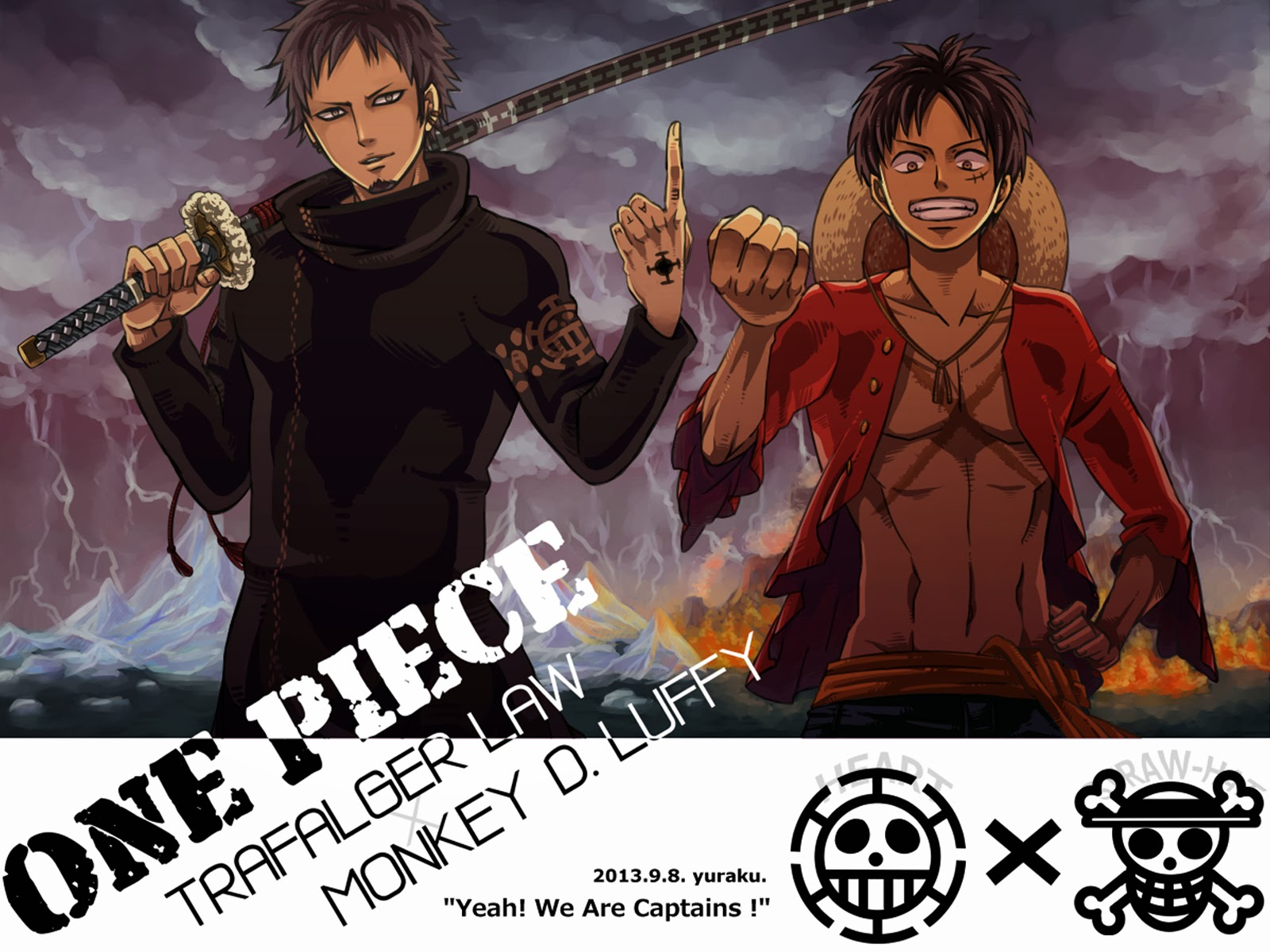 Trafalgar Law And Monkey D Luffy After Two Years One Piece Anime Hd Wallpaper 1600x1200