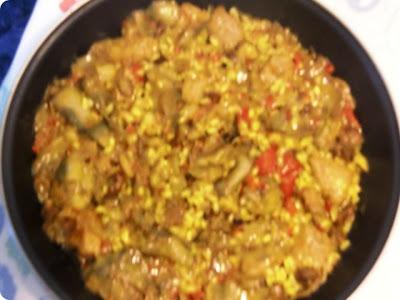 arroz con alcachofas y marrajo