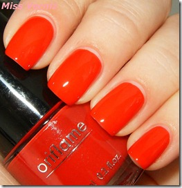coral red cor de verniz da oriflame pure color