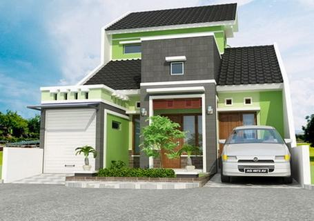 Desain Rumah Bernuansa Hijau dan Menarik Terbaru