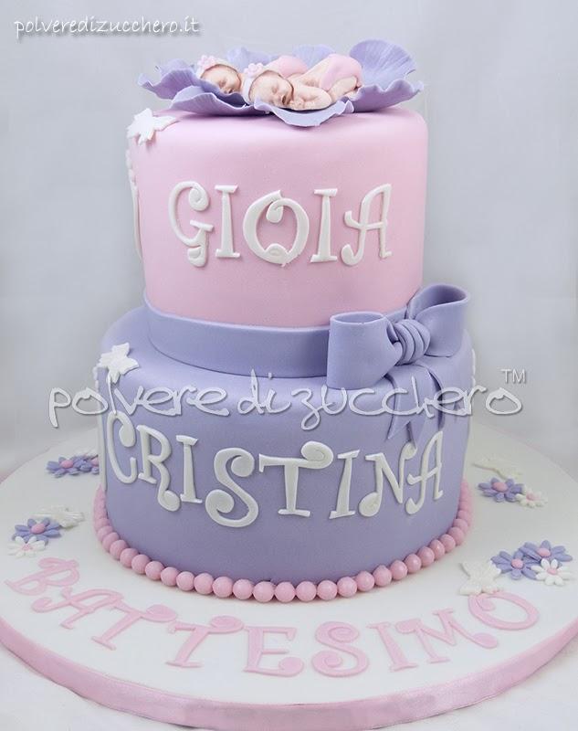 Torta Cake Design Torino : Torta Battesimo in pasta di zucchero per due gemelle ...