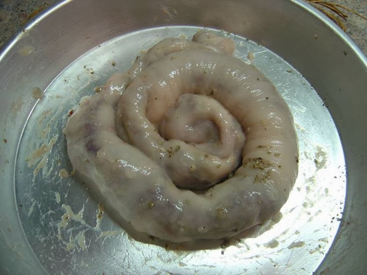 organically greek: splinogardoumo - spleen sausage (Σπληνογάρδουμο), Human body