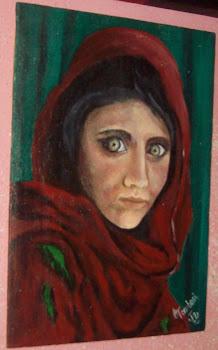 Mujer Afgana (replica de la foto de Nacional gheographic