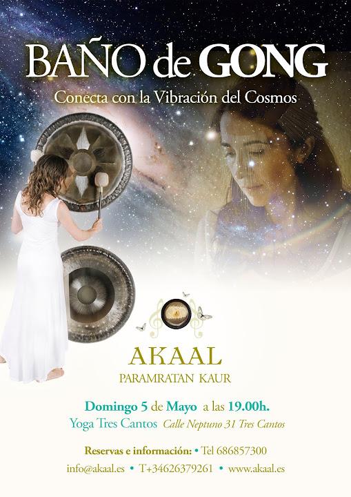 BAÑODE GONG TRES CANTOS,DOMINGO 5 DE MAYO 19.00H