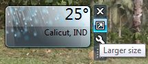 desktop Weather Gadgets for Windows 7, 8 and Vista large size
