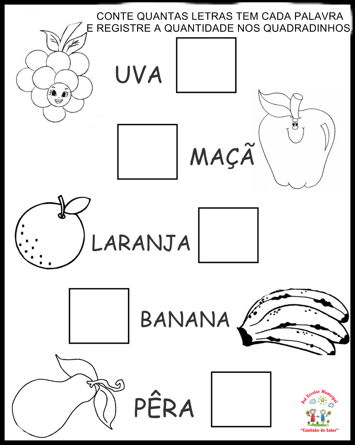 Conhecido Pequenos Grandes Pensantes.: Atividade Sobre Alimentação  CH69